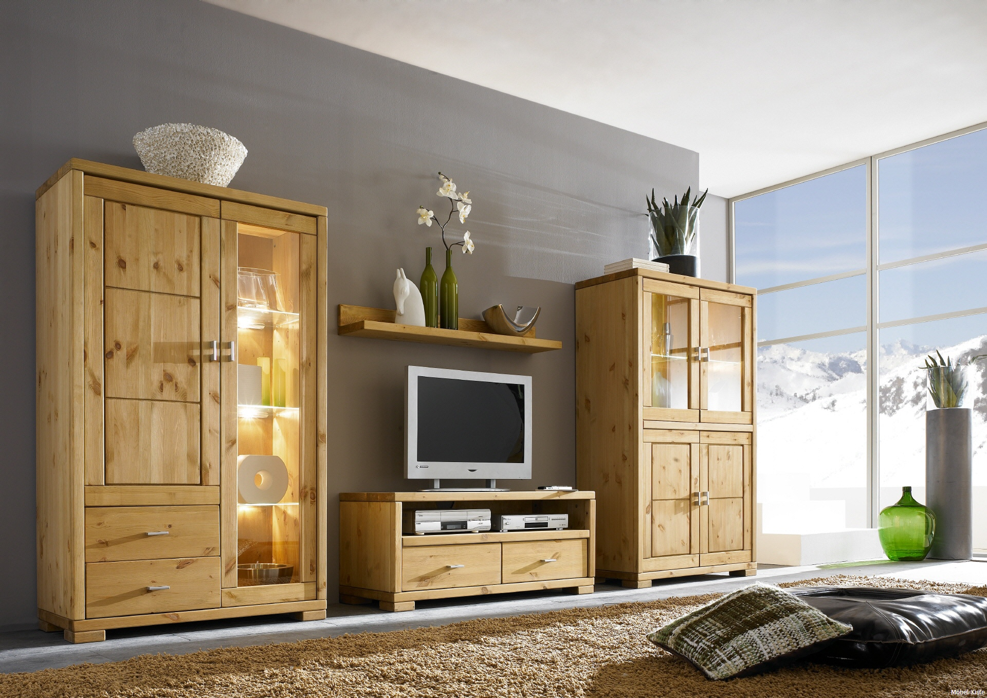 wohnzimmer schrankwand landhausstil m belideen. Black Bedroom Furniture Sets. Home Design Ideas